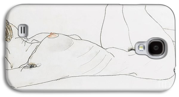 Reclining Female Nude Galaxy S4 Case by Egon Schiele