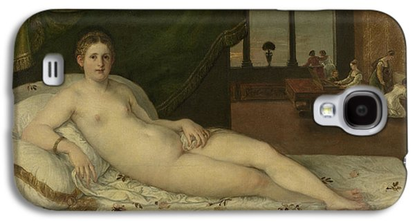 Alluring Paintings Galaxy S4 Cases - Reclining Venus Galaxy S4 Case by Lambert Sustris