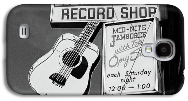 Record Shop- By Linda Woods Galaxy S4 Case by Linda Woods