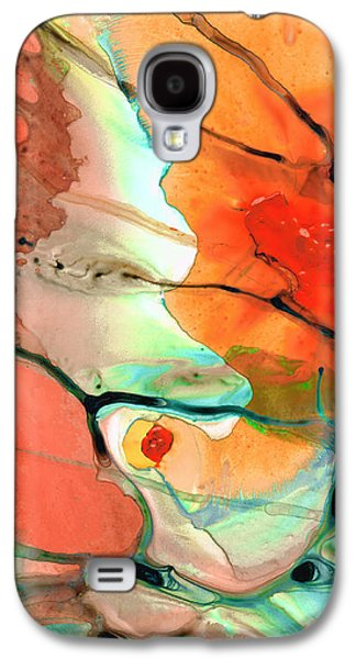 Red Abstract Art - Decadence - Sharon Cummings Galaxy S4 Case by Sharon Cummings