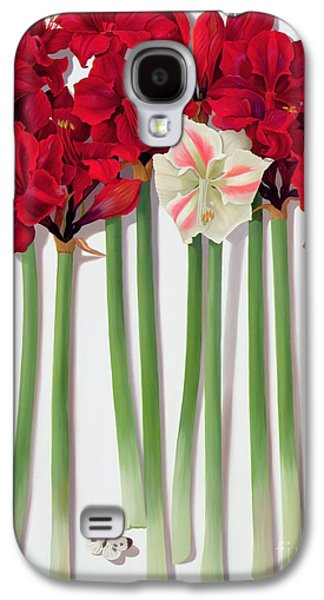 Red Amaryllis With Butterfly Galaxy S4 Case