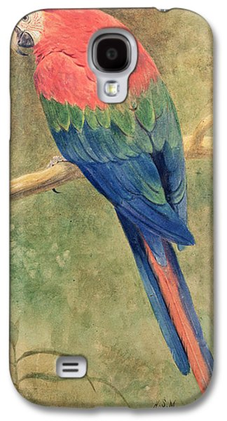 Red And Blue Macaw Galaxy S4 Case by Henry Stacey Marks