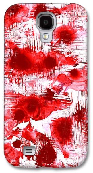 Red And White Galaxy S4 Case by Anastasiya Malakhova