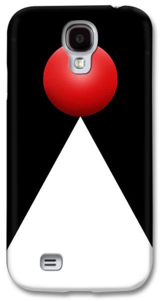 Red Ball 28b V Galaxy S4 Case by Mike McGlothlen