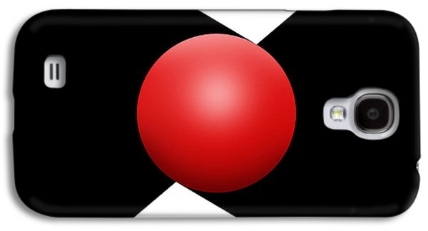 Red Ball S Q 1 Galaxy S4 Case by Mike McGlothlen