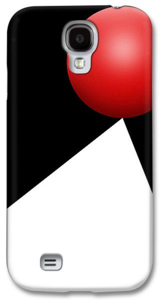 Red Ball S Q 10 Galaxy S4 Case by Mike McGlothlen
