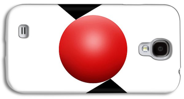 Red Ball S Q 2 Galaxy S4 Case by Mike McGlothlen