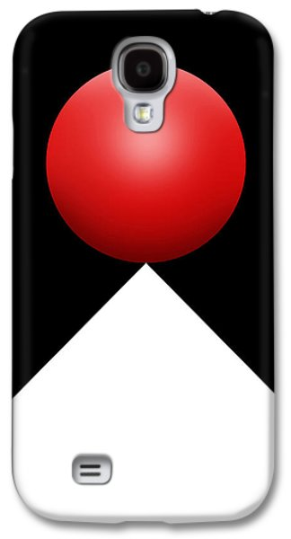 Red Ball S Q 3 Galaxy S4 Case by Mike McGlothlen