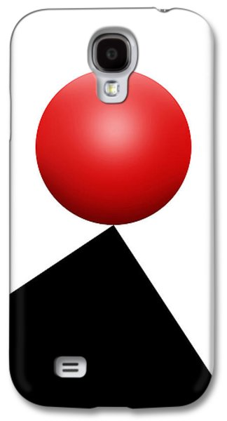 Red Ball S Q 6 Galaxy S4 Case by Mike McGlothlen