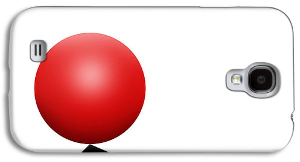 Red Ball S Q 7 Galaxy S4 Case by Mike McGlothlen