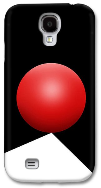 Red Ball S Q 8 Galaxy S4 Case by Mike McGlothlen