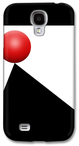 Red Ball S Q 9 Galaxy S4 Case by Mike McGlothlen