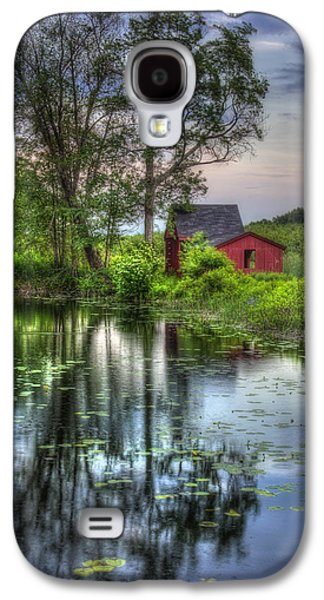 Red Barn In Country Setting Galaxy S4 Case by Joann Vitali