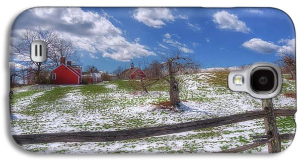 Red Barn In Snow - New Hampshire Galaxy S4 Case by Joann Vitali