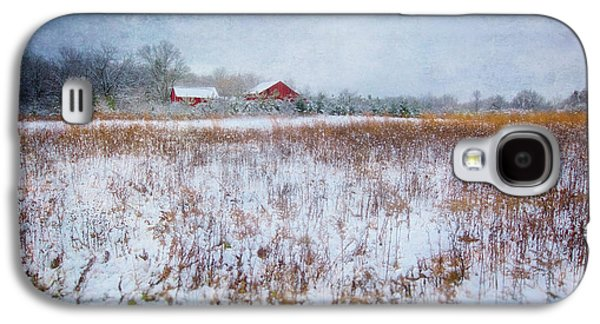 Red Barn In Snow - Winter At Retzer Nature Center  Galaxy S4 Case by Jennifer Rondinelli Reilly - Fine Art Photography