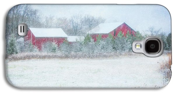 Red Barn In Winter At Retzer Nature Center  Galaxy S4 Case by Jennifer Rondinelli Reilly - Fine Art Photography