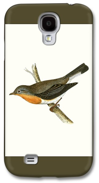 Flycatcher Galaxy S4 Case - Red Breasted Flycatcher by English School