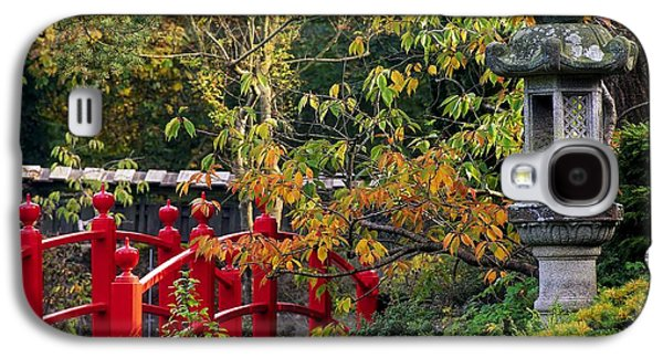 Red Bridge & Japanese Lantern, Autumn Galaxy S4 Case by The Irish Image Collection
