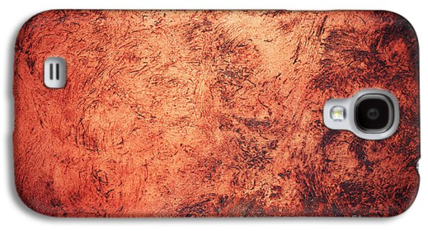 Red Burnt Clay With Scratched Surface Galaxy S4 Case