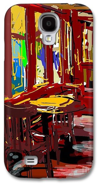Red Cafe Galaxy S4 Case by Sandra Haney