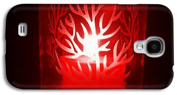 Red Candle Light Galaxy S4 Case