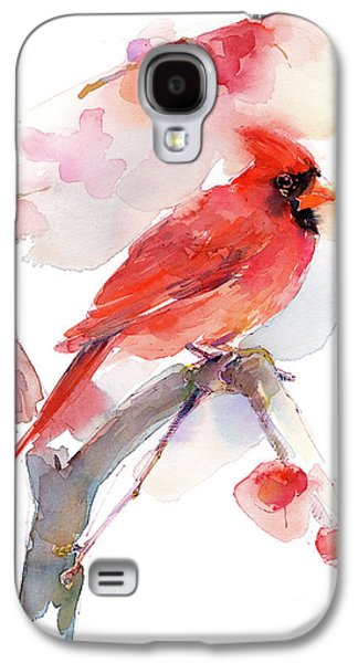 Loose Style Galaxy S4 Case - Red Cardinal by John Keeling