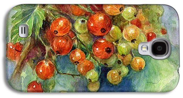 Red Currants Berries Watercolor Galaxy S4 Case