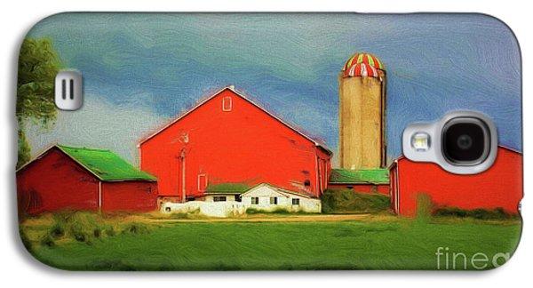 Red Dairy Farm Galaxy S4 Case