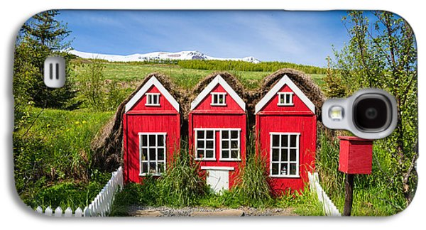 Red Elf Houses In Iceland For The Icelandic Hidden People Galaxy S4 Case by Matthias Hauser