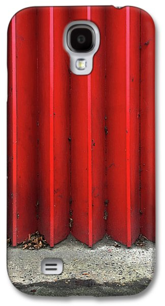 Red Expanding Metal Galaxy S4 Case by Tom Gowanlock
