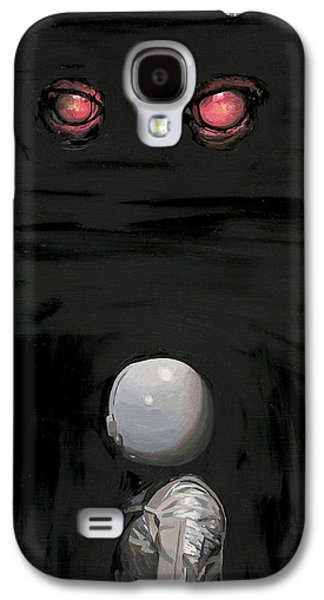 Galaxy S4 Case featuring the painting Red Eyes by Scott Listfield