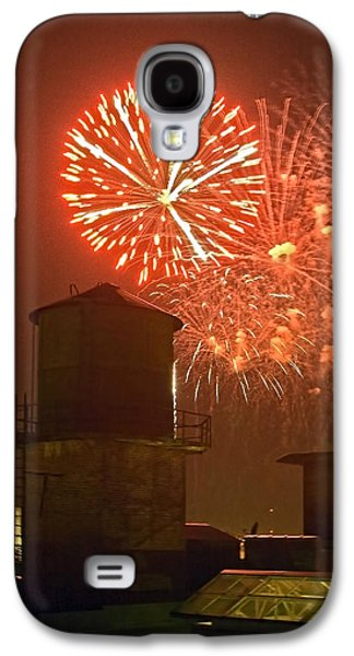Red Fireworks Galaxy S4 Case