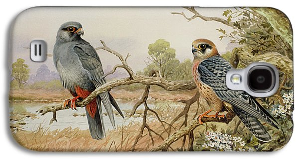 Red-footed Falcons Galaxy S4 Case by Carl Donner