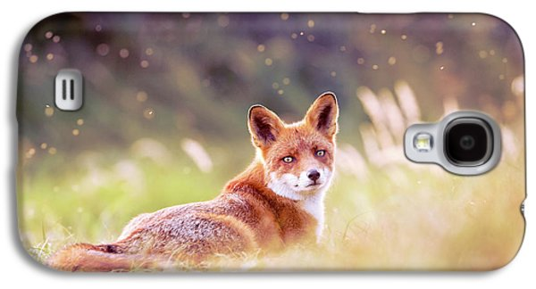 Red Fox And The Fairy Dust Galaxy S4 Case by Roeselien Raimond
