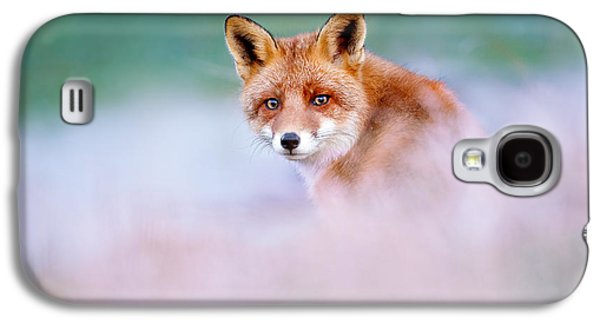 Red Fox In A Mysterious World Galaxy S4 Case by Roeselien Raimond