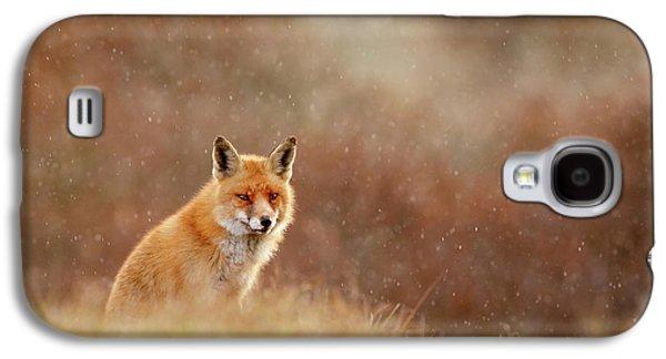 Red Fox In A Snow Shower Galaxy S4 Case