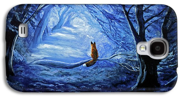 Red Fox In Blue Cypress Grove Galaxy S4 Case