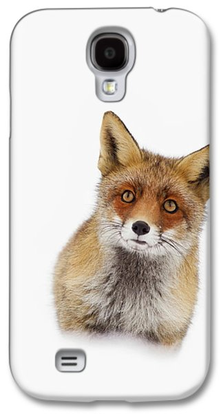 Red Fox In The Snow Portrait Galaxy S4 Case