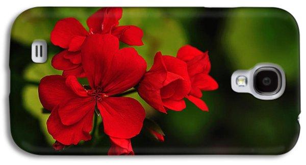 Red Geranium Galaxy S4 Case