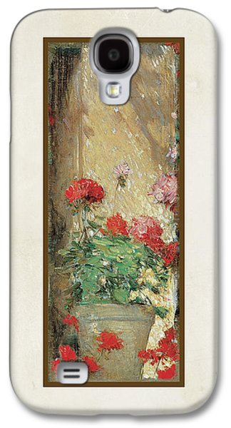 Red Geranium Pots Galaxy S4 Case by Audrey Jeanne Roberts