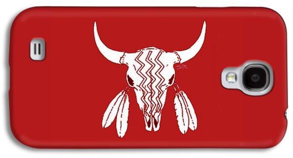 Red Ghost Dance Buffalo Galaxy S4 Case by Steamy Raimon
