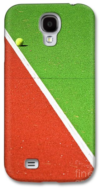 Red Green White Line And Tennis Ball Galaxy S4 Case