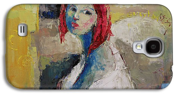 Red Haired Girl Galaxy S4 Case