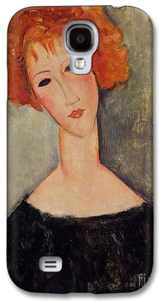 Red Head Galaxy S4 Case by Amedeo Modigliani