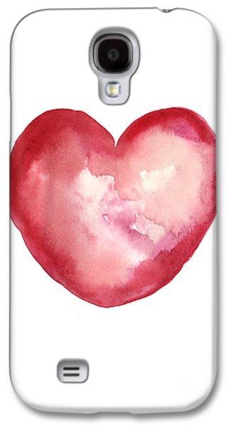 Minimalist Galaxy S4 Case - Red Heart Valentine's Day Gift by Joanna Szmerdt
