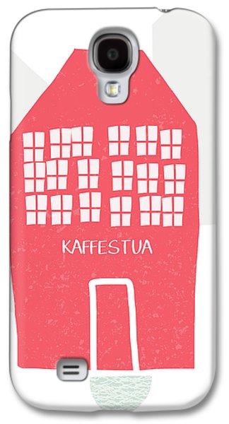 Red Kaffestua- Art By Linda Woods Galaxy S4 Case