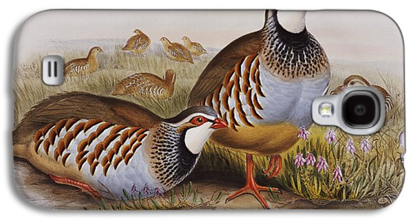 Red-legged Partridges Galaxy S4 Case by John Gould