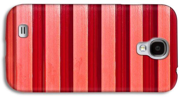 Red Metal Door Galaxy S4 Case by Tom Gowanlock