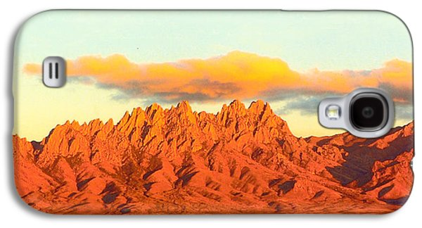 Sunset Framed Prints Galaxy S4 Cases - Red Mountain Sunset Organs Galaxy S4 Case by Jack Pumphrey