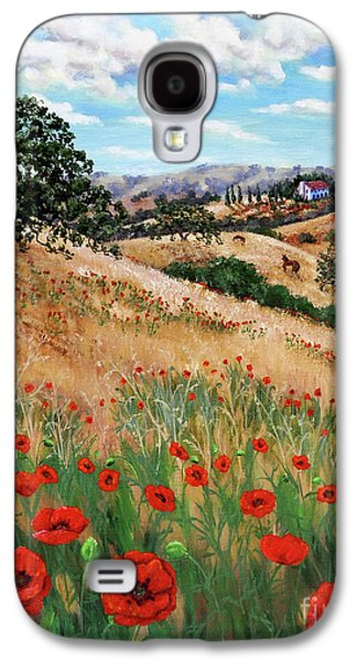 Red Poppies And Wild Rye Galaxy S4 Case